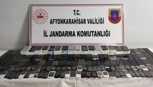 AFYON'DA KAÇAK TELEFON OPERASYONU