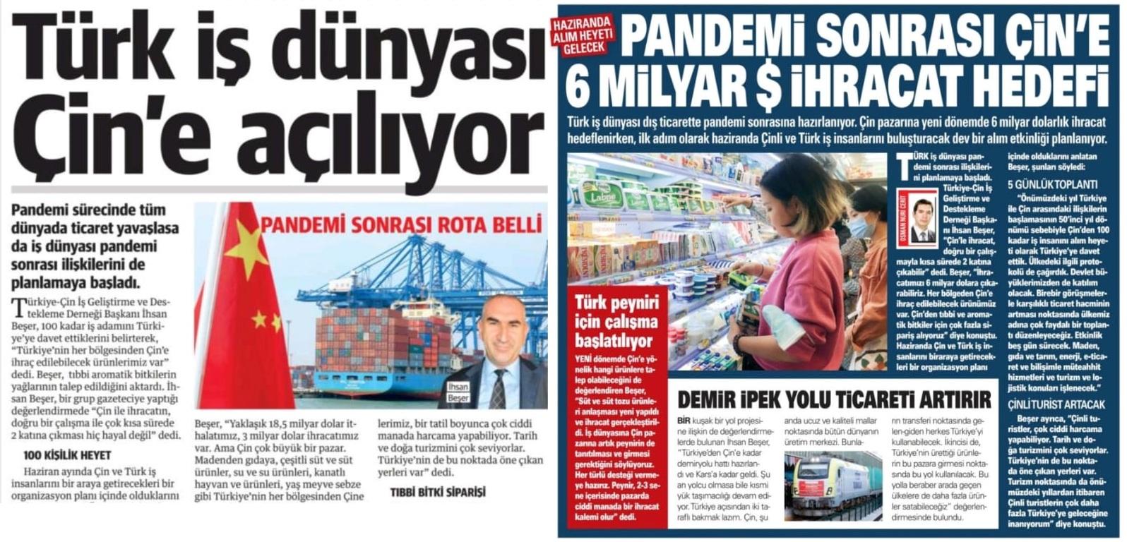 BAŞKAN BEŞER ULUSAL BASINDA SES GETİRDİ..