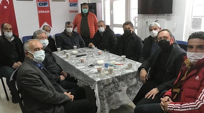 Başkan Görgöz'den Dinar CHP İlçe Teşkilatına Ziyaret