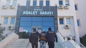 Dinar'da 16 iş yerine hırsızlık amaçlı giren F.P tutuklandı