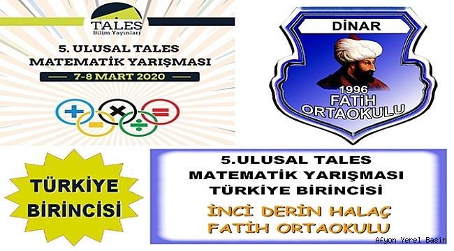 Fatih Ortaokulu'ndan Türkiye Birincisi