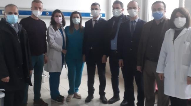 Sağlık Müdürü Uzm.Dr.Serhat Korkmaz AFSÜ Aşılama Birimini Ziyaret Etti