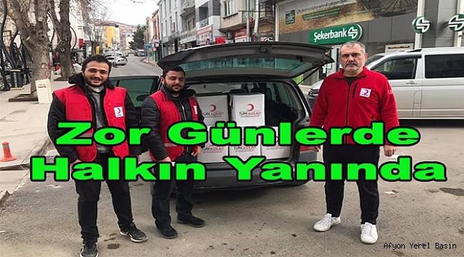 Türk Kızılay'ı Dinar Şubesi İhtiyaç Sahiplerine Yardıma Koşuyor