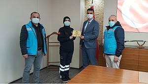 İl Sağlık Müdürlüğü İSDEM Ekiplerince Plaketle Ödüllendirildi