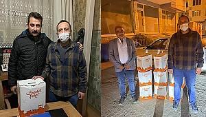 CHP Dinar Yardım Paketlerini Muhtarlara Verdi