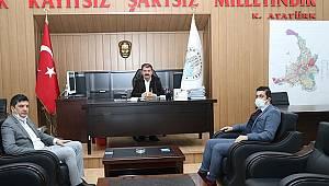OEDAŞ Yeni İl Müdürü Demir'den Başkan Sarı'ya ziyaret