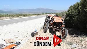 Takla Atan Traktör Sürücüsü Ağır Yaralandı