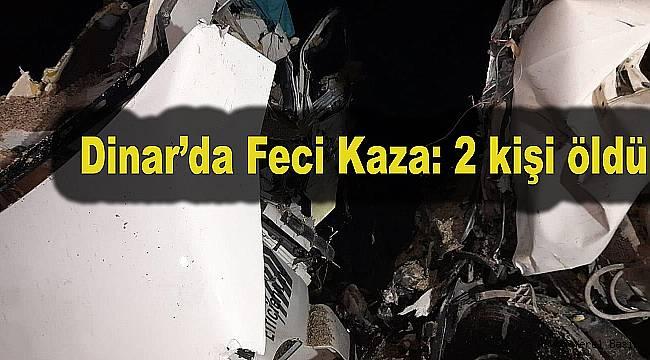 TIR ile Beton mikseri Kamyonu kafa kafaya çarpıştı: 2 ölü