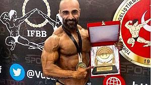 Yalçın Fırat Ergenekon, +80 kiloda Türkiye şampiyonu oldu..