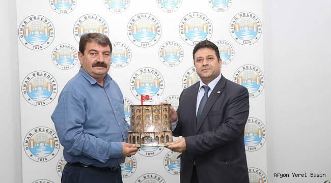 Dinar Orman İşletme Müdürü Akoğlanoğlu'ndan Başkan Sarı'ya veda ziyareti