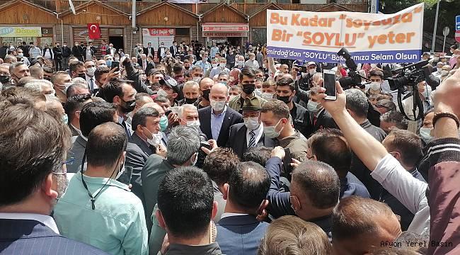 İçişleri Bakanı Süleyman Soylu Afyonkarahisar'a geldi..