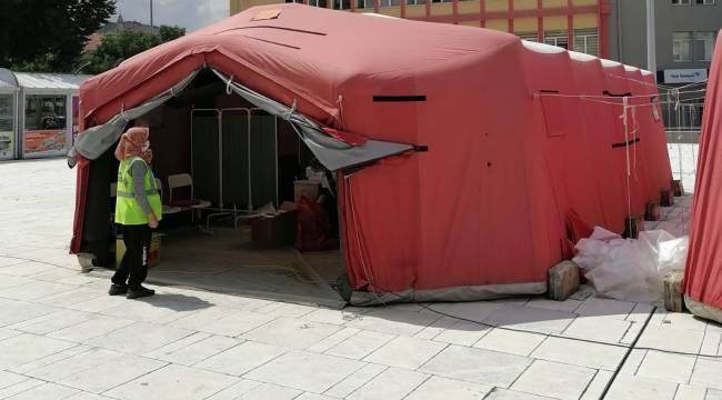 Zafer Meydanına Koronavirüs Aşı Çadırı kuruldu