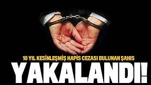 10 YIL HAPİS CEZASI BULUNAN ŞAHIS PARK HAYAT HASTANESİNDE YAKALANDI..