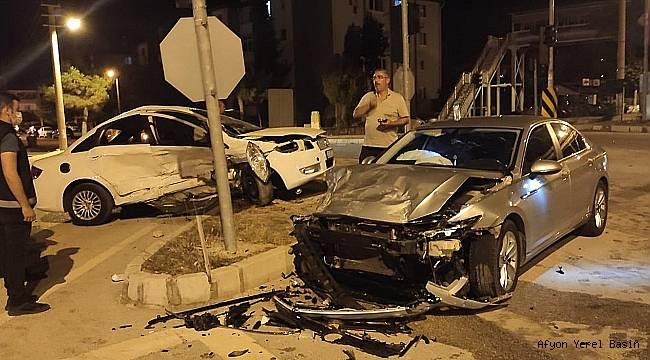 Dinar'da Öğretmen Kazada Ağır Yaralandı