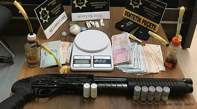 Dinar'da Uyuşturucu Yakalandı