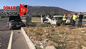Dinar'da Yeni Açılan Çivril Yolunda Kaza: 2 ağır yaralı