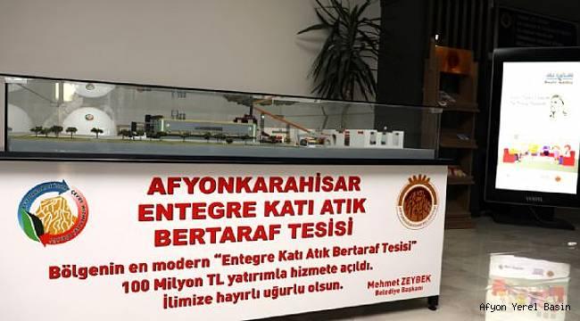 ENTEGRE KATI ATIK BERTARAF TESİSİ MAKETİ BELEDİYE BİNASINDA