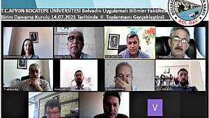 Uygulamalı Bilimler Fakültesi Birim Danışma Kurulu Toplantısı Yapıldı