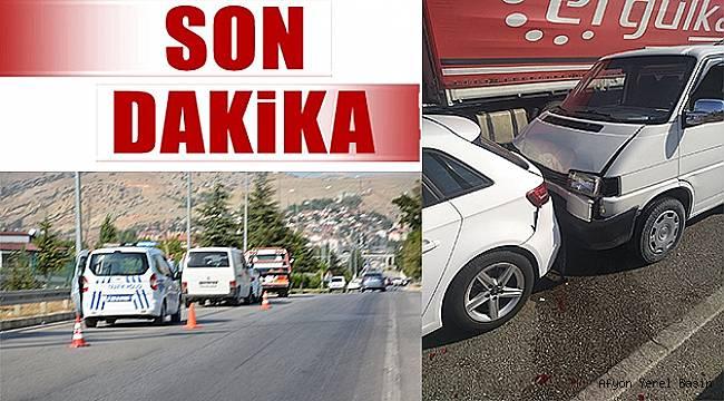Dinar'da Zincirleme Trafik kazası