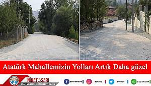 Başkan Sarı, Atatürk Mahallemizin yolları artık daha güzel oldu
