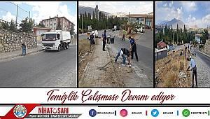 Dinar Belediyesi temizlik çalışmalarını sürdürüyor