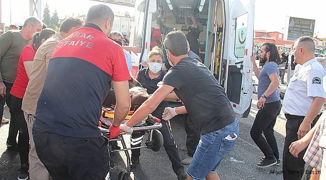 Dinar'da Freni Boşalan Azerbaycan Plakalı Tır 6 araca Çarptı; 1 Ağır Yaralı