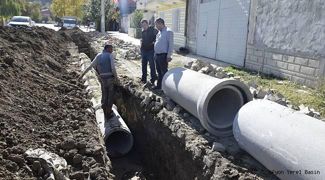Çay'da Yağmur Suyu İsale Hattı Çalışmaları Yapıldı