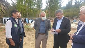 İbrahi Yurdunuseven Sinanpaşa'yı ziyaret etti