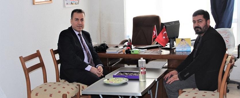 Kaymakam Kapankaya'dan Dinar Gündem Gazetesine Ziyaret