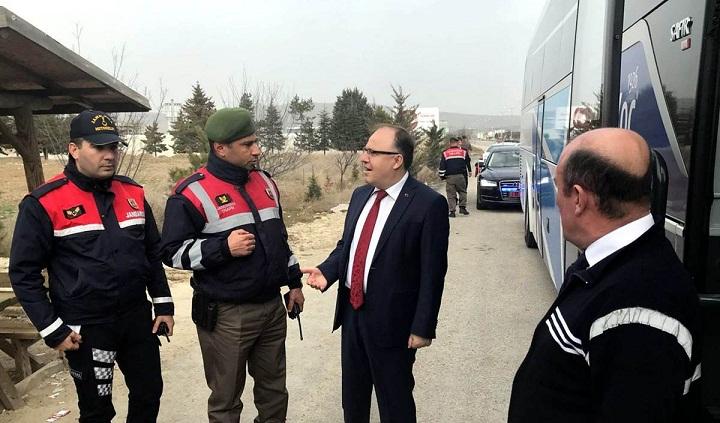 Vali Mustafa Tutulmaz İl Jandarma Ekiplerini Denetledi