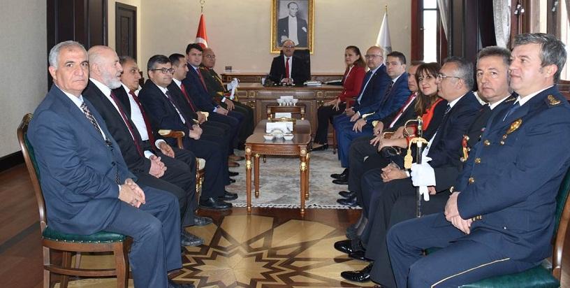 Vali Tutulmaz 29 Ekim Cumhuriyet Bayramı Tebriklerini Makamında Kabul Etti