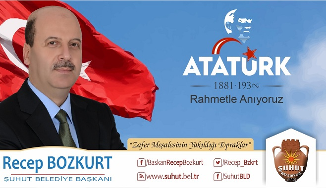 Başkan Bozkurt'tan, 10 Kasım Atatürk'ü Anma Mesajı