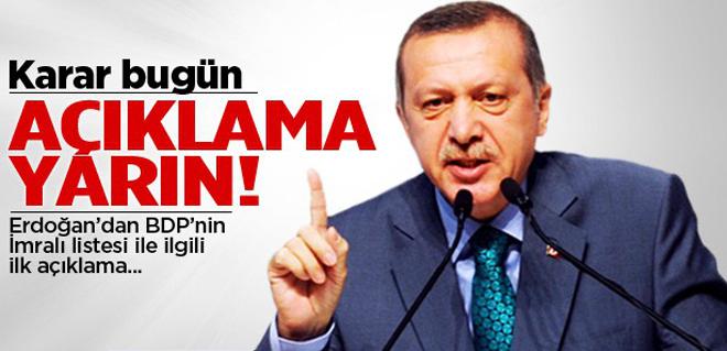 Erdoğan'dan Bdp Heyetiyle İlgili Açıklama