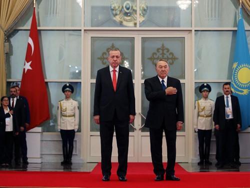 Cumhurbaşkanı Erdoğan, Kazakistan Akorda Sarayında