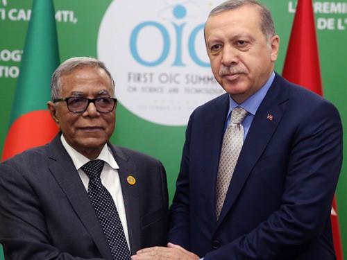 Cumhurbaşkanı Erdoğan, Bangladeş Cumhurbaşkanı Hamid İle Görüştü