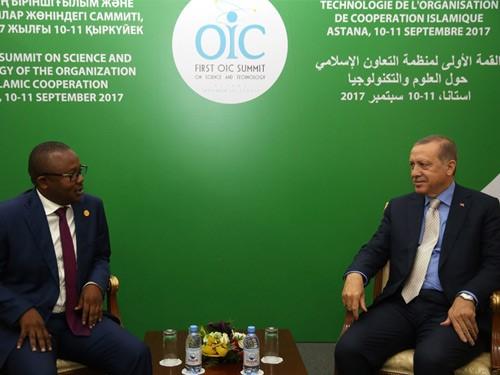 Cumhurbaşkanı Erdoğan, Gine Bissau Cumhuriyeti Başbakanı Embalo'yu Kabul Etti