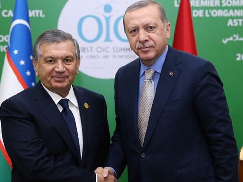 Cumhurbaşkanı Erdoğan, özbekistan Cumhurbaşkanı Mirziyoyev İle Görüştü