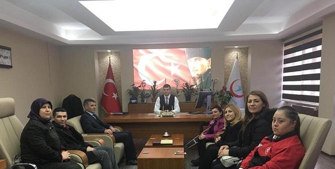 Engelli Dernek Başkanlarından Müdür Korkmaz'a Ziyaret