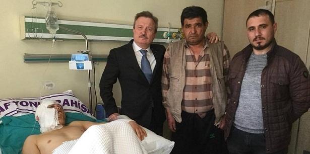 Dr. Mahmut Koçak Hastanede Gazimizi Ziyaret Etti