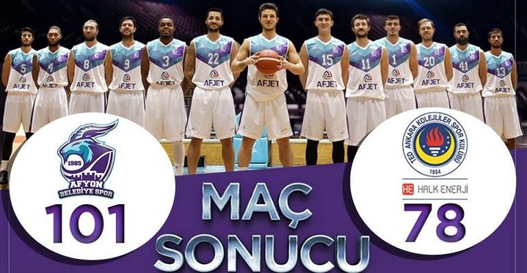 Afyon Belediye Basketbol Takımı Ted Kolejlileri Ezdi Geçti
