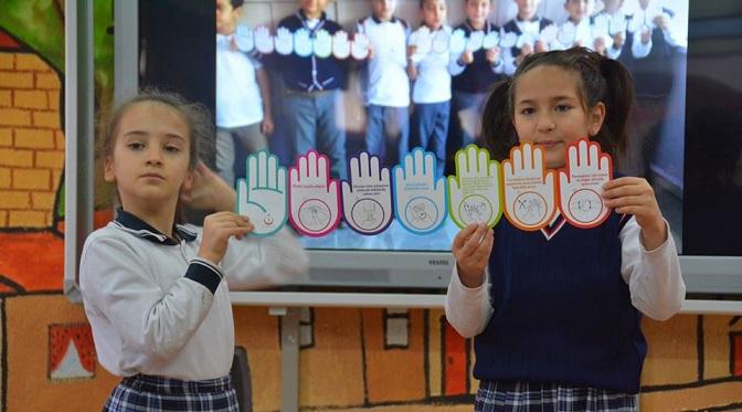 çocuklara Temizlik Ve 112 Eğitimi