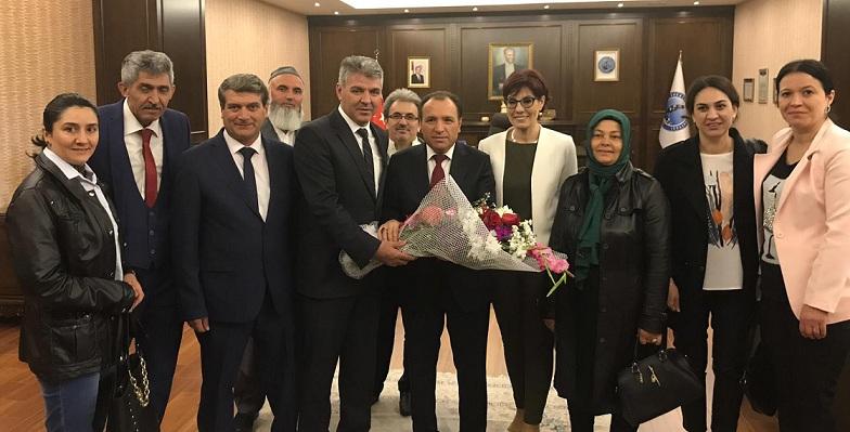 Engelliler Meclisi Rektör Karakaş'ı Ziyaret Etti..