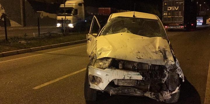 Dinar'da Trafik Kazası, 1 Ağır Yaralı