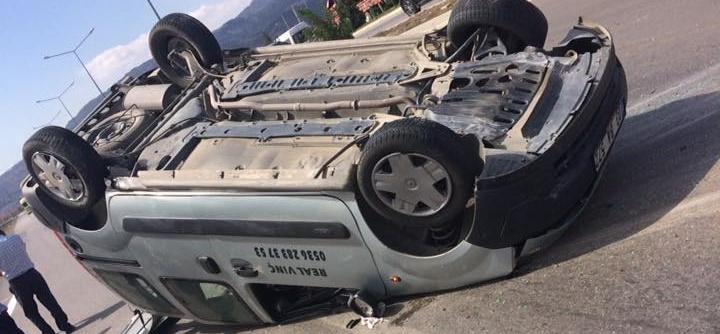 Ans Yolundaki Trafik Kazasında 1 Kişi Yaralandı