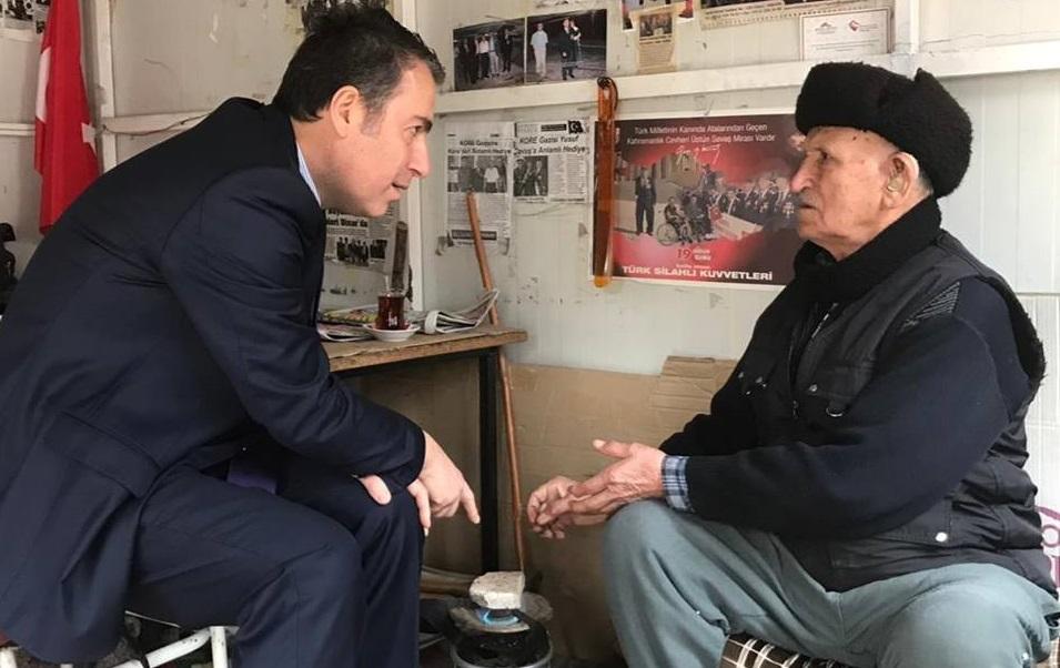 Kaymakam Kapankaya, Kore Gazisini Ziyaret Etti