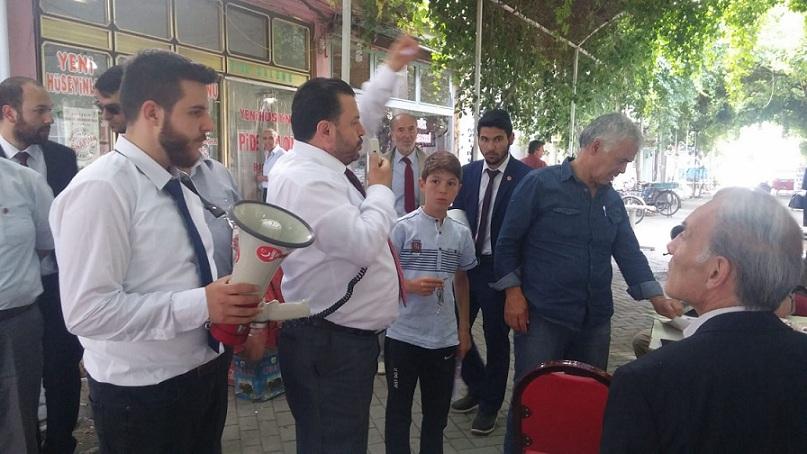 Saadet Partisi Bolvadine çıkarma Yaptı
