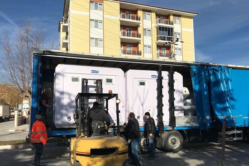 Emirdağ Sanayi Sitesinde Seyyar Lavabo Ve Wc'ler Kuruluyor