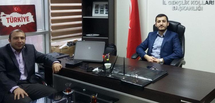 Ak Parti İl Gençlik Kolları Başkanı Karahan'a Hayırlı Olsun Ziyareti