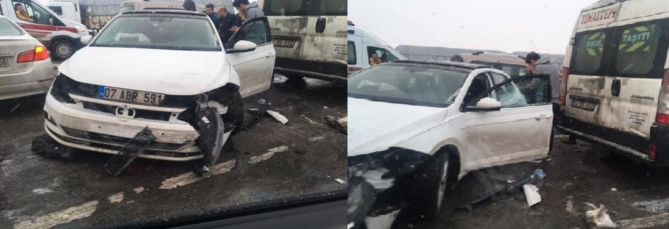 Afyon'da Zincirleme Trafik Kazası Yaşandı