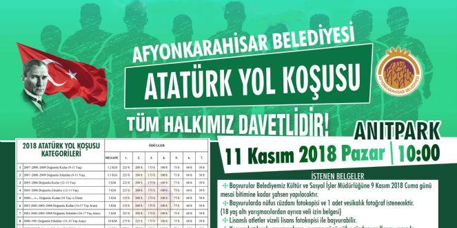 Atatürk Yol Koşusu 11 Kasım´da